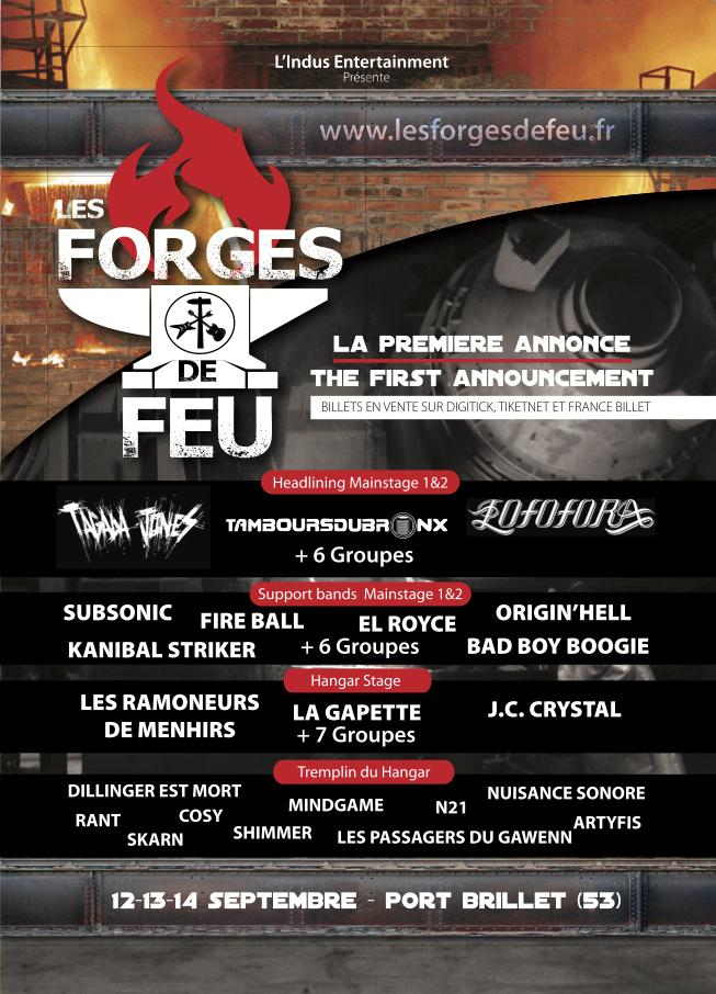 FESTIVAL LES FORGES DE FEU, 12 au 14/09, Port Brillet 53 Lesforgesdefeufirstannoucement2